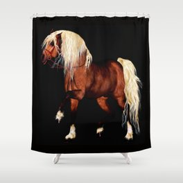 HORSE - Black Forest Shower Curtain