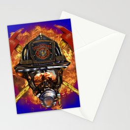 Firefighter rescue volunteer Stationery Cards