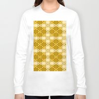 yellow pattern Long Sleeve T-shirts featuring Puzzle Pattern,yellow by MehrFarbeimLeben