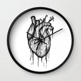 Bleeding Heart - A3 Ink illustration Wall Clock