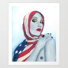 American Ladyboy Art Print