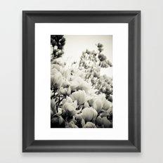 A Waterfall of Flowers Framed Art Print