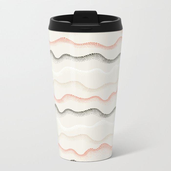 Retro Dotted Pattern 02 Metal Travel Mug
