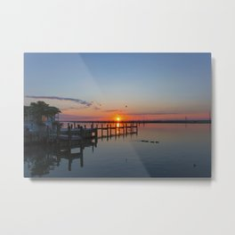 Sunset In Chincoteague Island Metal Print