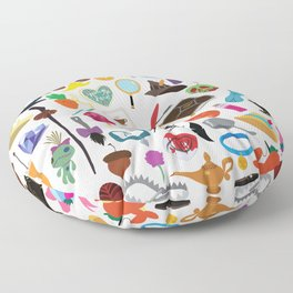 56 Pieces of Animation Floor Pillow