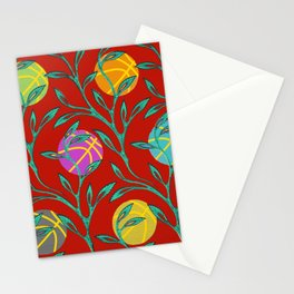 Basketball Flowers Stationery Cards
