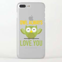 Owl Loves You Always Clear iPhone Case