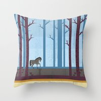 woods Throw Pillows featuring Woods by Kakel