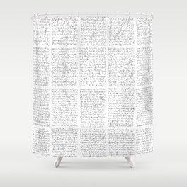 Ideogramme Shower Curtain