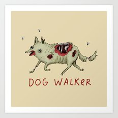 Dog Walker Art Print