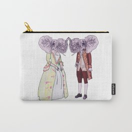 Madame and Monsieur Elephant Carry-All Pouch