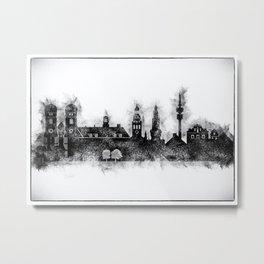 Black and White Munich City Skyline Metal Print