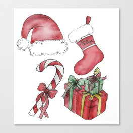 Christmas Items Canvas Print