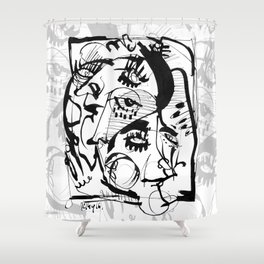 The Pretty People - b&w Shower Curtain
