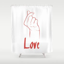 "Hangul ""i love you"" Shower Curtain"