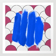 Blu Imperfection Art Print