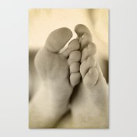 feet Canvas Prints featuring Feet by Angela K. Rough