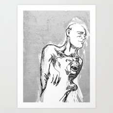 Hand of Dog Art Print