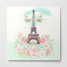 Eiffel Tower in Spring Metal Print