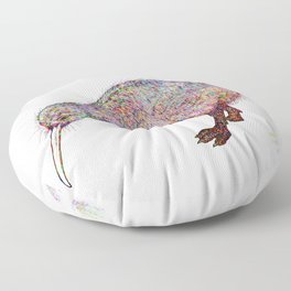 Painted Kiwi Bird Floor Pillow