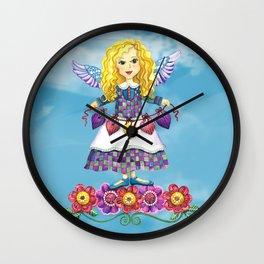 Angel Love (Turquoise) Wall Clock