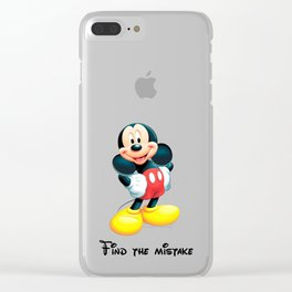 Find the mistake - Mickey Clear iPhone Case