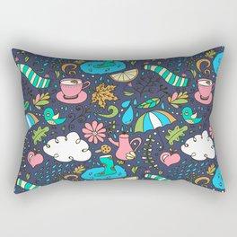Hand draw autumn doodle pattern. Rectangular Pillow