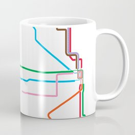 Chicago CTA Map, Chicago Train Map Art, Chicago L Train Map, Chicago Art, Chicago Wall Art, Map Art Coffee Mug