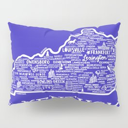 Kentucky Map Pillow Sham