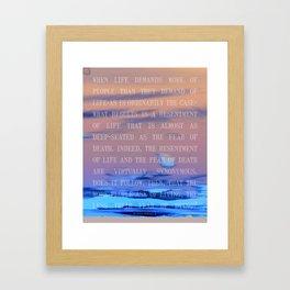 livingFEARdying Framed Art Print