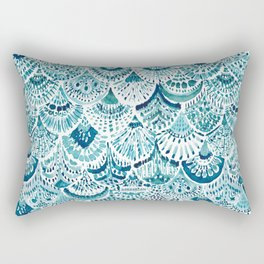 MERM ARMOR Indigo Mermaid Scales Rectangular Pillow