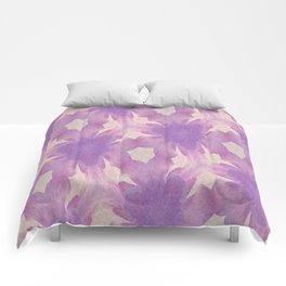 Geometric Floral Design - Purple Comforters