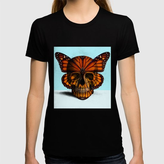 SKULL (MONARCH BUTTERFLY) by objectsofcuriositybydanlevin