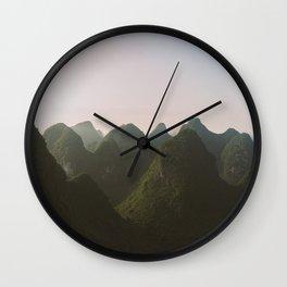 Yangshuo mountains Wall Clock
