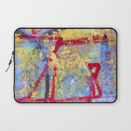 Textures in paint Laptop Sleeve