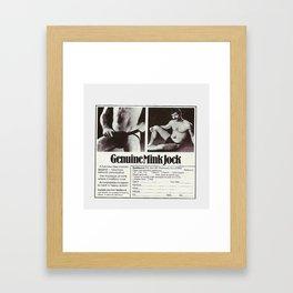 Mink Jock Framed Art Print