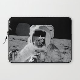 Apollo 12 - Face Of An Astronaut Moon Selfie Laptop Sleeve