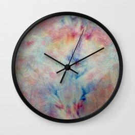 Tye Dye Kaleidoscope Sunset Wall Clock