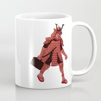 samurai Mugs featuring Samurai by edusá studio
