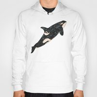 killer whale Hoodies featuring Killer Whale by Ben Geiger