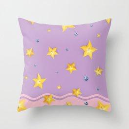Summer Love - Starfruit Throw Pillow