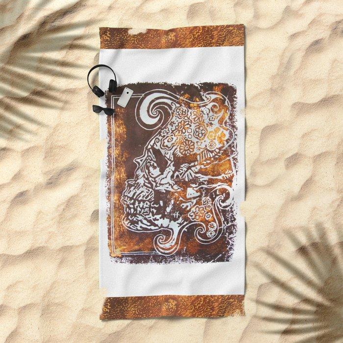 Crâne 02 Beach Towel