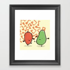 avocado & mango Framed Art Print