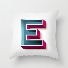 The Letter E Throw Pillow