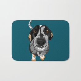 Greta bluetick coonhound Bath Mat