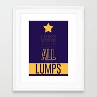 lumpy space princess Framed Art Prints featuring Lumpy Space Princess by Rizwanb