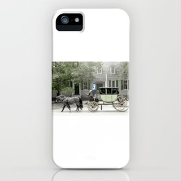 horse and carriage photography art iPhone Case
