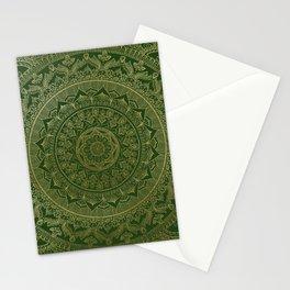 Mandala Royal - Green and Gold Stationery Cards