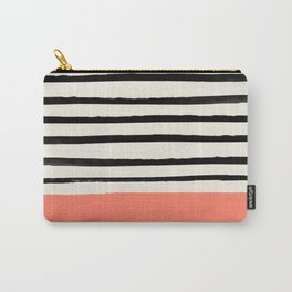 Coral x Stripes Carry-All Pouch