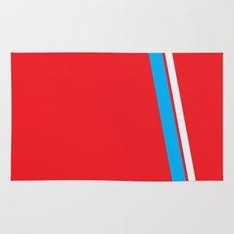 Red Slant Rug